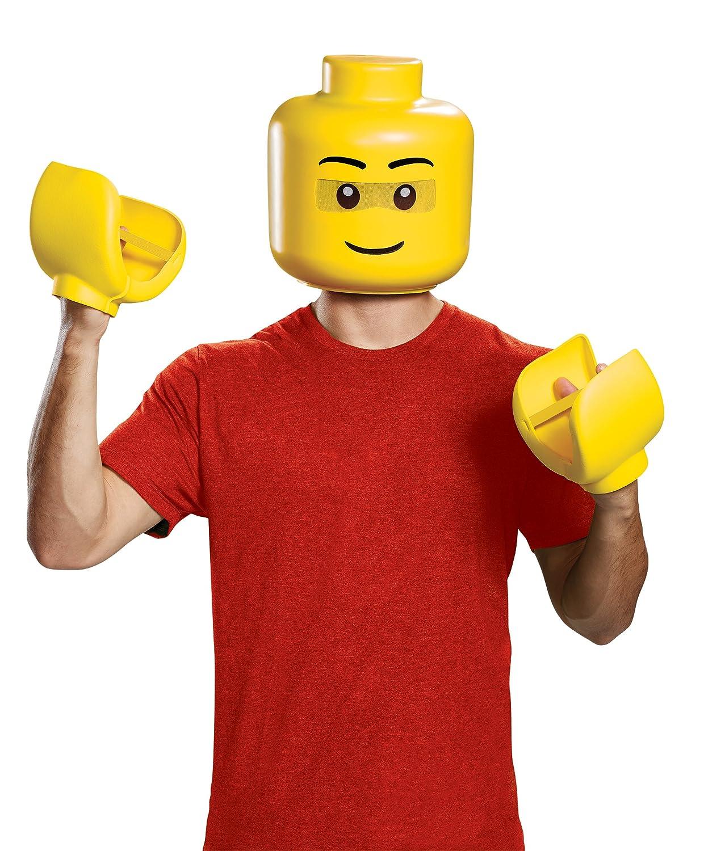 Lego Man Costume Fancy Dress Includes Head /& Gloves