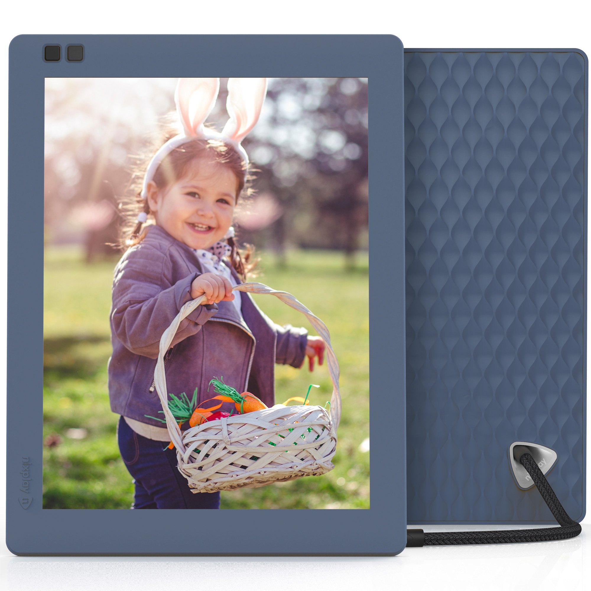 Nixplay Seed 10 Inch WiFi Cloud Digital Photo Frame with IPS Display, iPhone & Android App, Free 10GB Online Storage and Motion Sensor (Blue) by nixplay