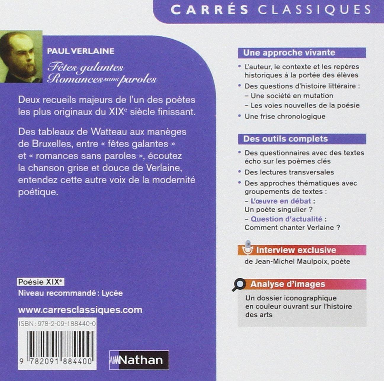 Amazon fr f tes galantes et romances sans paroles paul verlaine livres