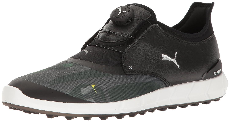 PUMA Men\'s Ignite Spikeless Sport Disc Shoes Puma Black-puma Silver-quiet Shade
