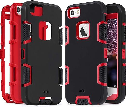IDweel Coque pour iPhone SE, iPhone 5S, iPhone 5, Coque robuste et résistante aux chocs, résistant aux chutes, à la poussière et aux rayures ...