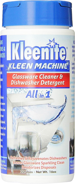 Kleenite Kleen Machine Glassware Cleaner, Dishwasher Detergent, 16 oz.