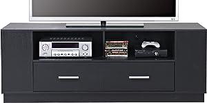 HOMESTAR 2-Drawer TV Stand in Black