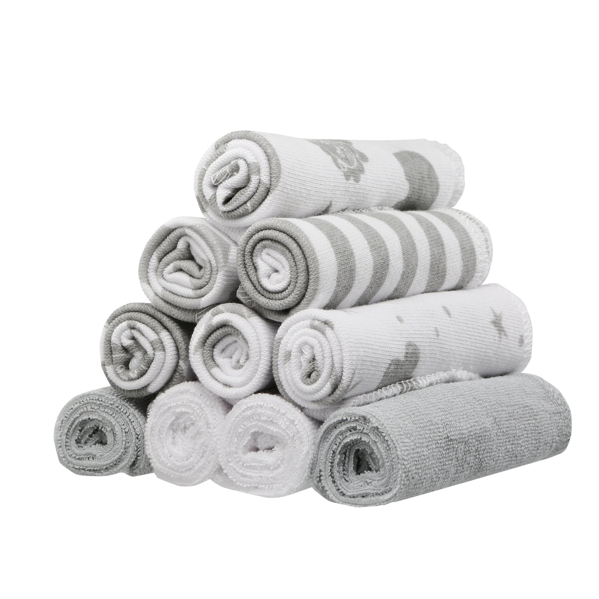 10 Pack washcloth, Grey Celestial