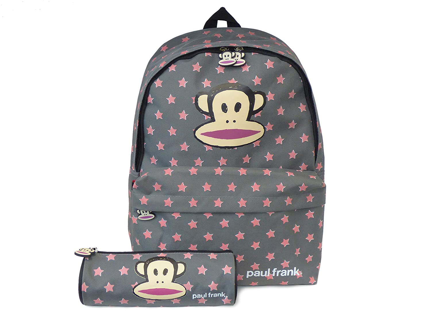 b54d545acf Paul Frank Grey Stars Backpack with Matching Pencil case  Amazon.co.uk   Luggage