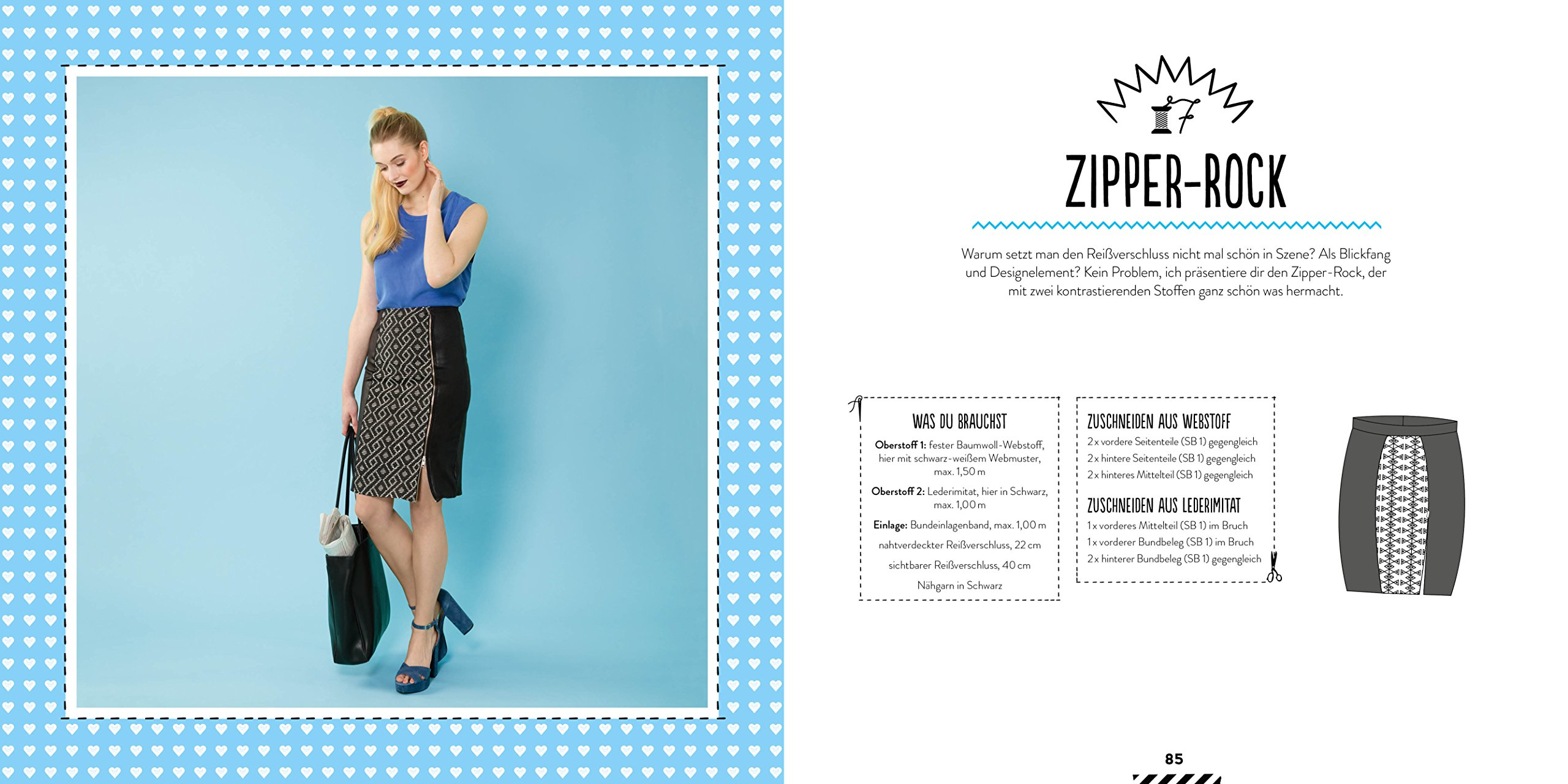 Ein Schnitt, zehn Röcke: Schnittteile kombinieren - Lieblingsröcke ...