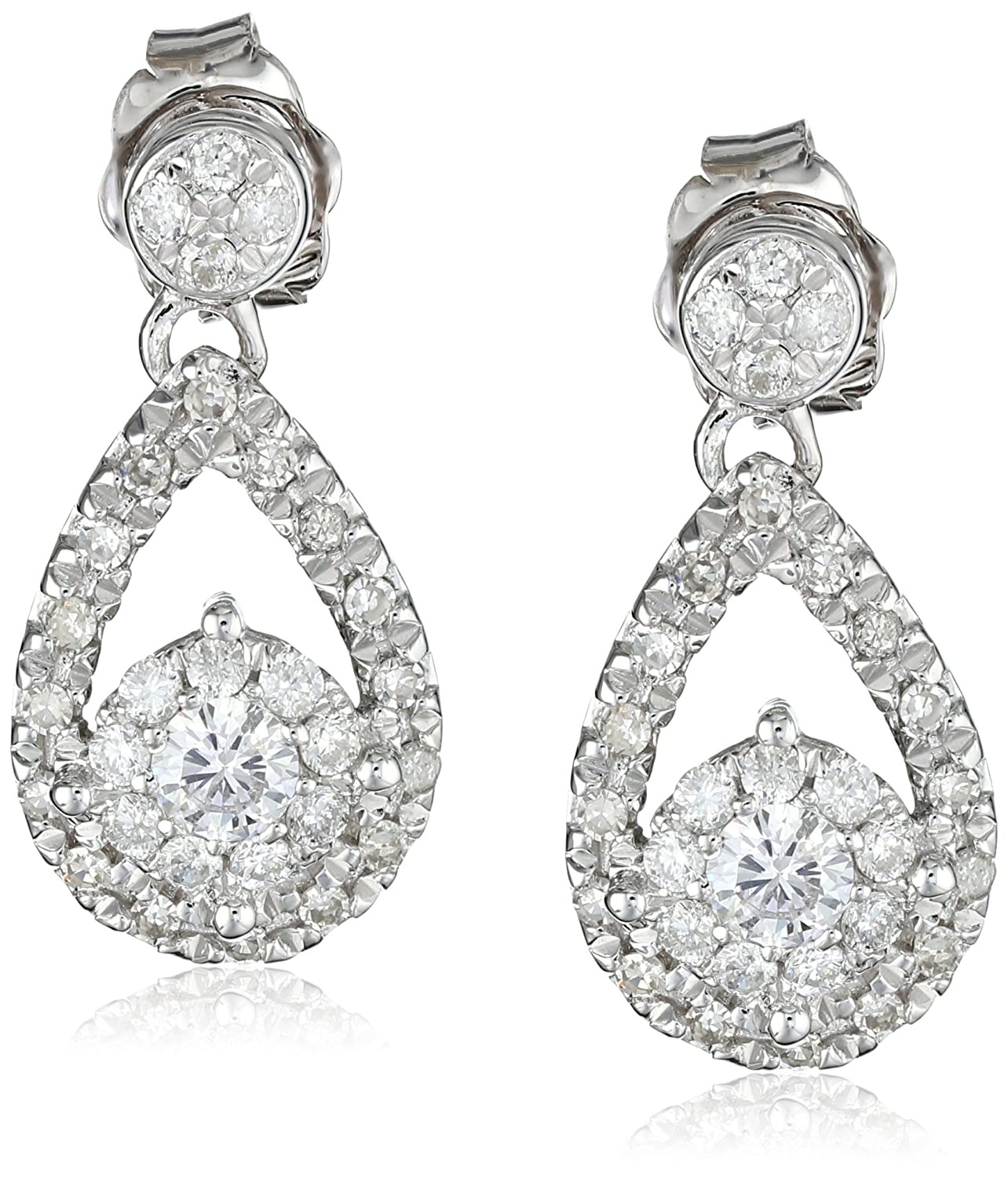 earrings stud in h princess i ctw product si yellow diamond gold g cut