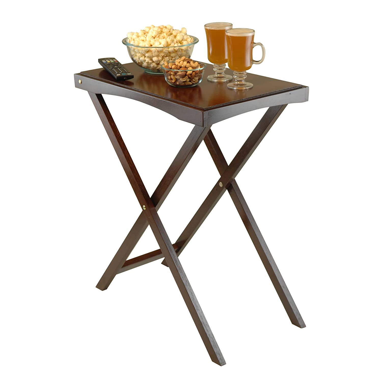 Amazon.com: Winsome Wood Devon Butler TV Table With Serving Tray: Kitchen U0026  Dining