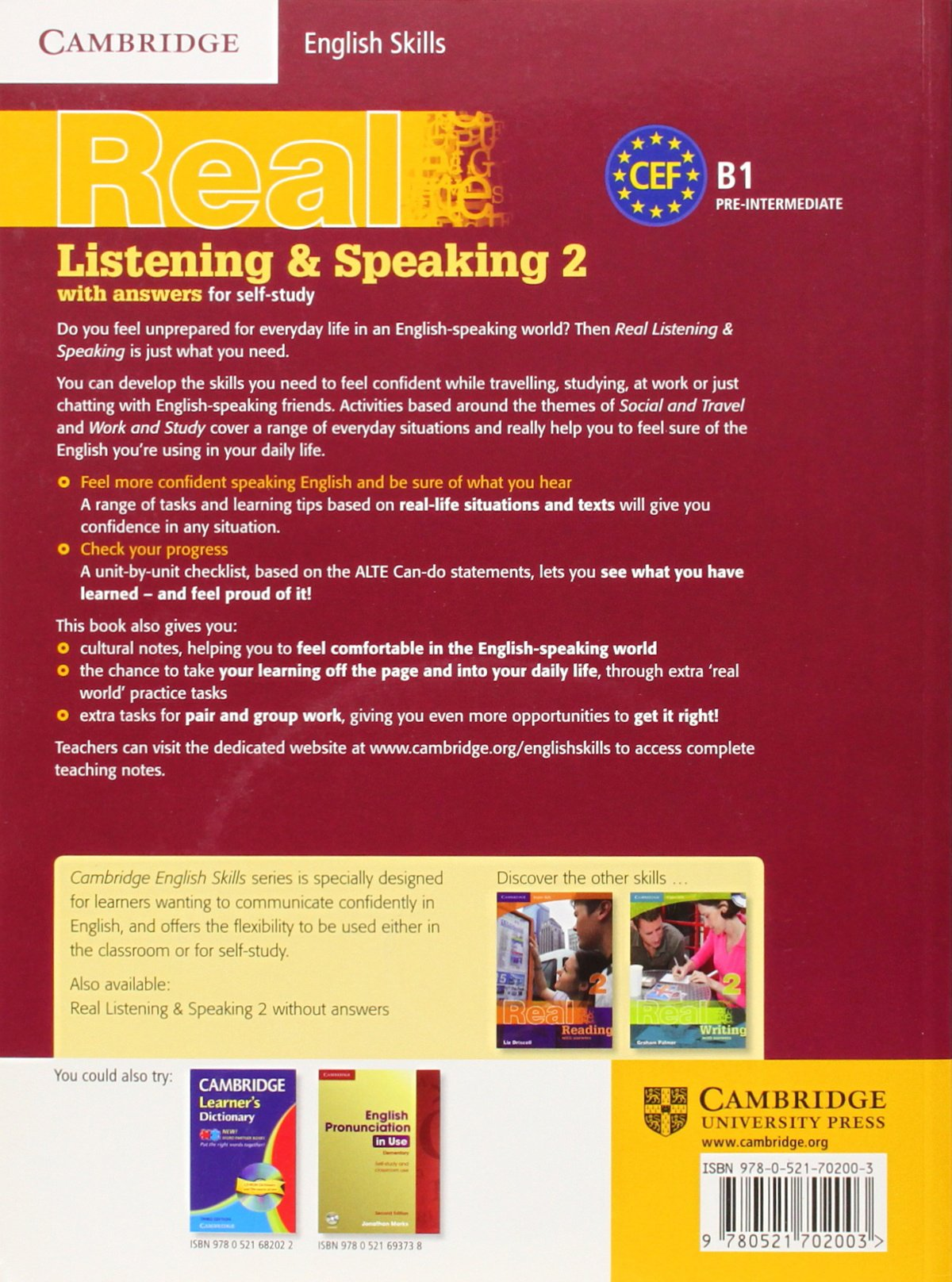 Cambridge English Skills Real Listening and Speaking 2 with Answers and Audio CD by Brand: Cambridge University Press