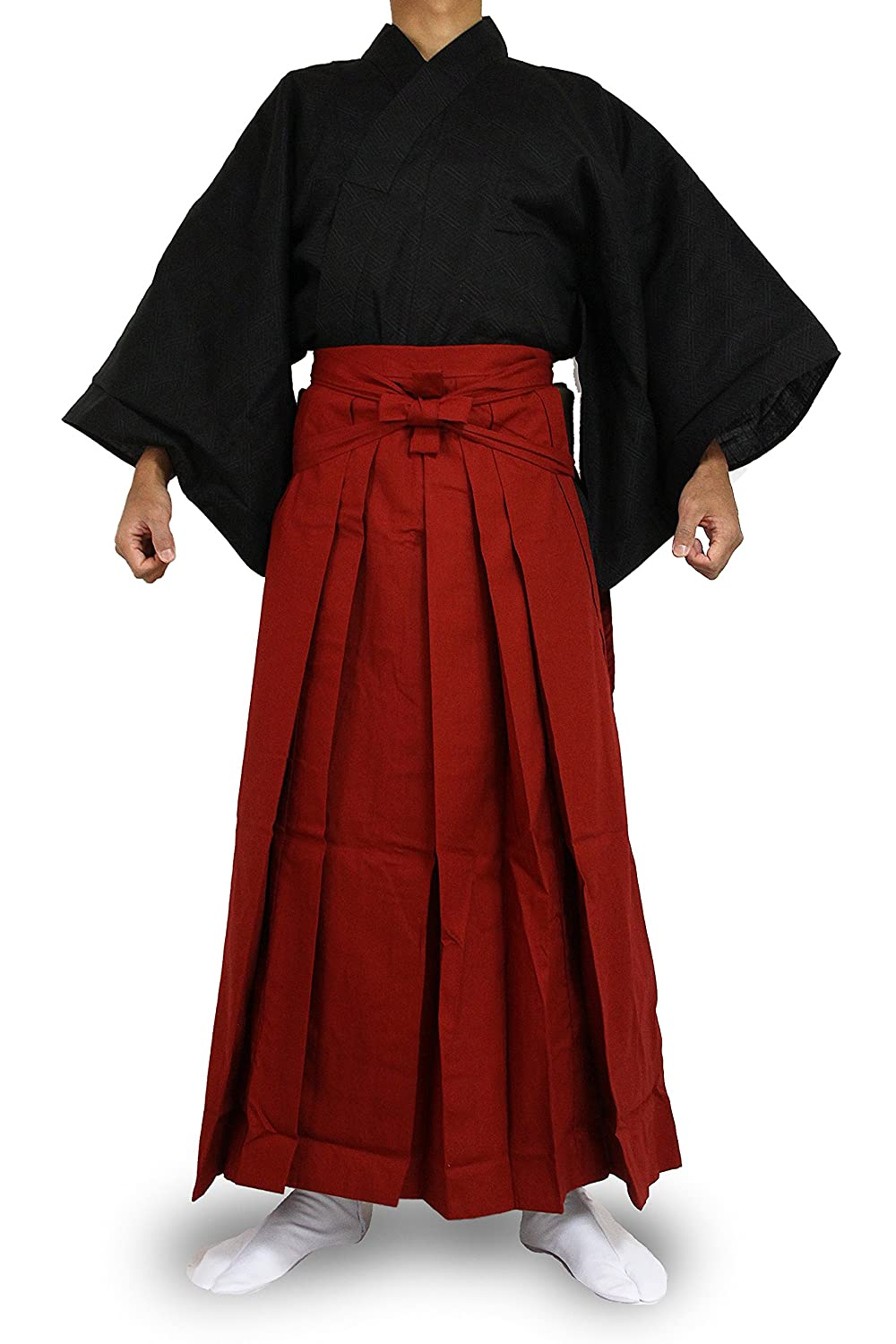 1BKRed Edoten Japanese Samurai Hakama Uniform