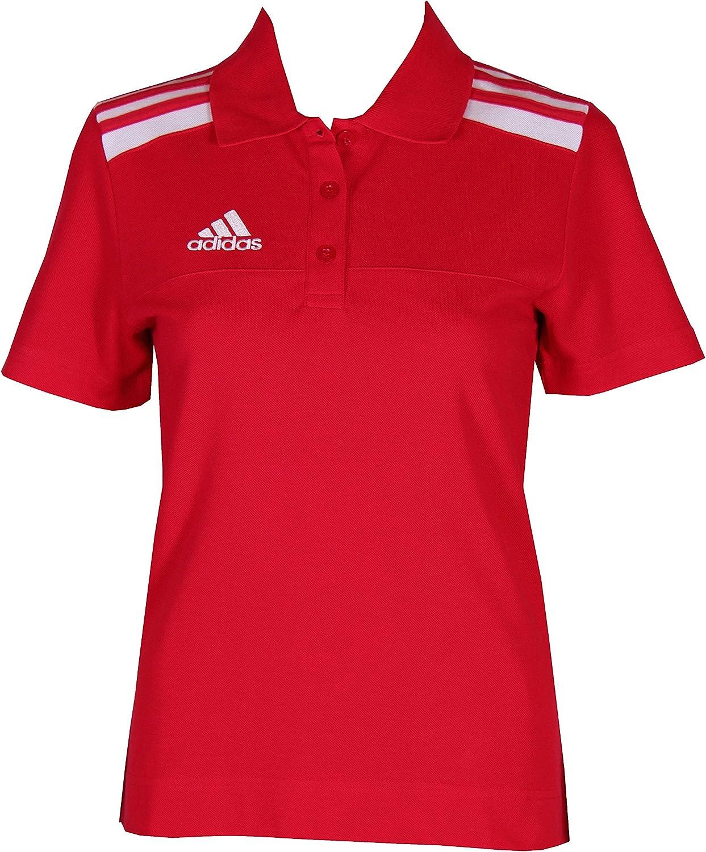 adidas Segundo le Mujeres S Fútbol Polo (algodón), Color Rojo ...