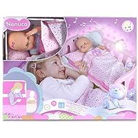 Nenuco-700014059 Cunita Duerme Conmigo, Color Rosa (Famosa 700014059)
