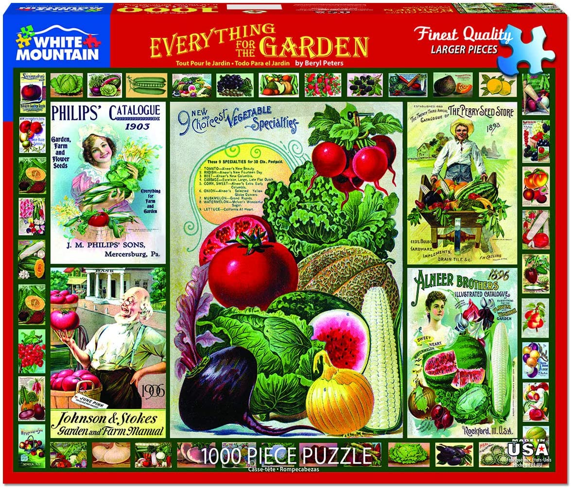 White Mountain Puzzles Everything for the Garden - 1000 Piece Jigsaw Puzzle
