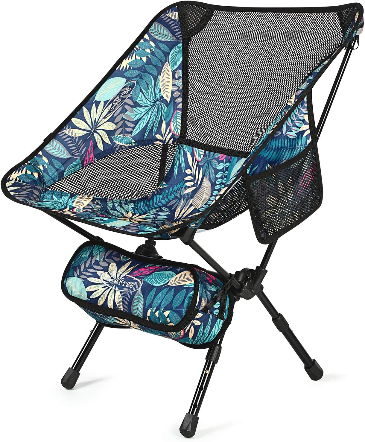 Red-adjustable G4Free Ultralight Folding Chairs Portable Fold up Camping Chairs with Carry Bag for Outdoor Hiking Picnic Fishing Travelling