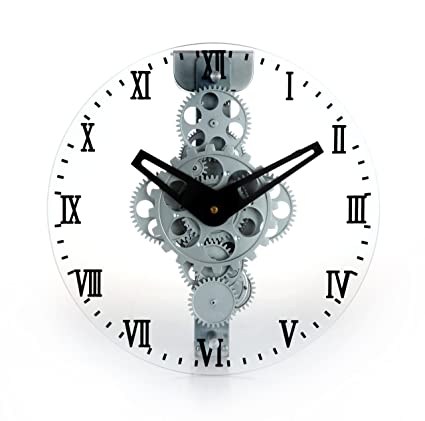 2042528d5f9d Image Unavailable. Image not available for. Color: Maple's LCG33 Moving  Gear Wall Clock ...