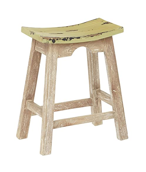 osp designs 24 saddle stool white washrustic sage