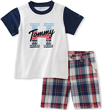 bc47b6c65 Image Unavailable. Image not available for. Color: Tommy Hilfiger Toddler  Boys' 2 Piece Short Set, White, ...
