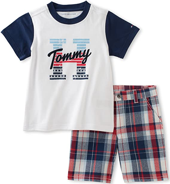 91ccd4c9 Tommy Hilfiger Toddler Boys' 2 Piece Short Set, White, 4T: Amazon.ca ...
