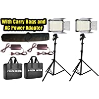 Simpex Professional 400 Led Video Light Dual Kit with Battery and Charger, Carry Bags and AC/DC Power Adapter (2 Pieces)