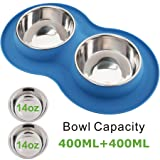 Roysili Double Dog Bowl Pet Feeding
