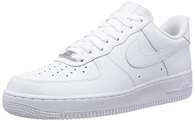 Nike Air Force 1 '07, Baskets mode homme, Blanc, ...