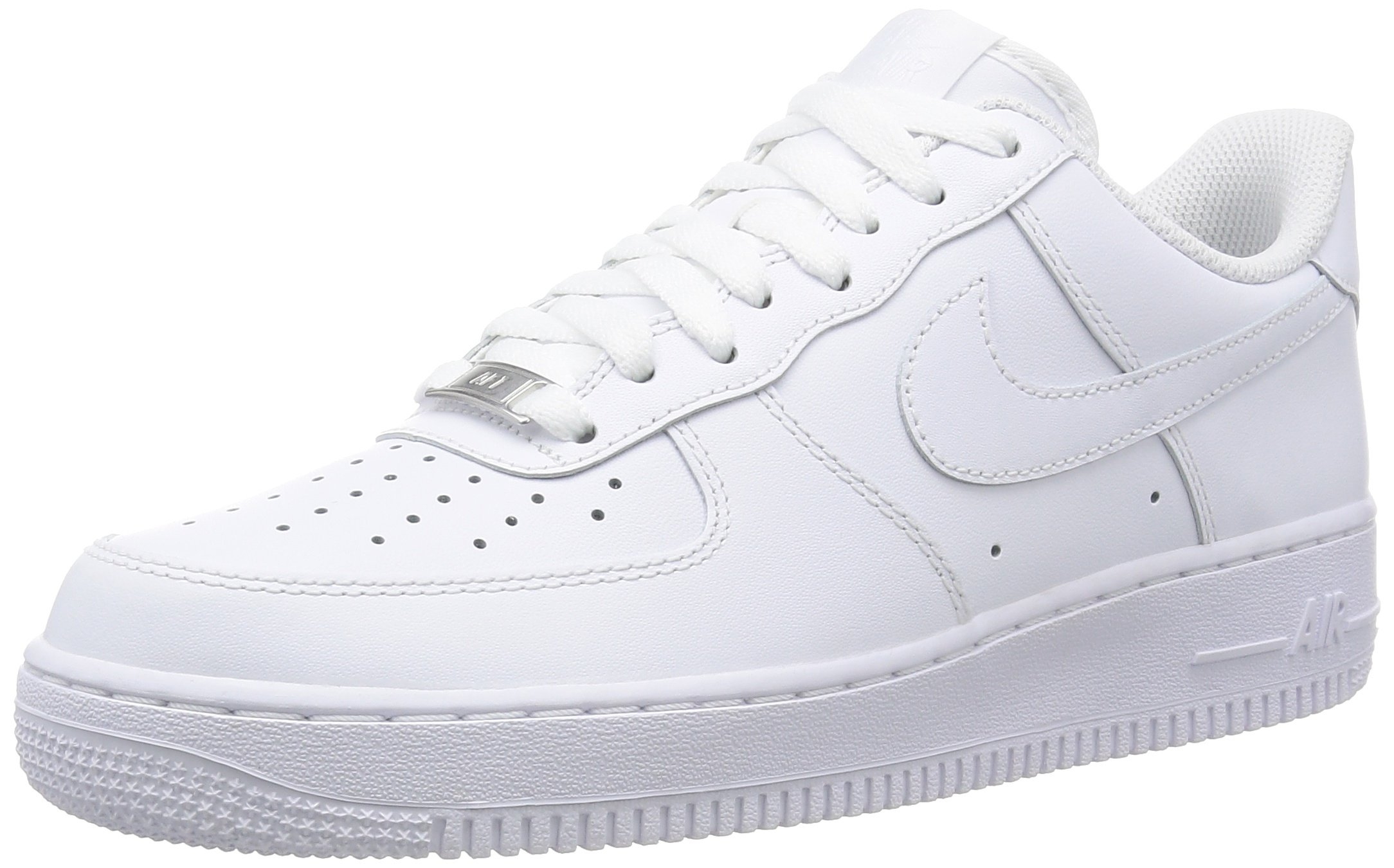 Nike Mens Air Force Low 1 Basketball Shoe White/White 9 by Nike