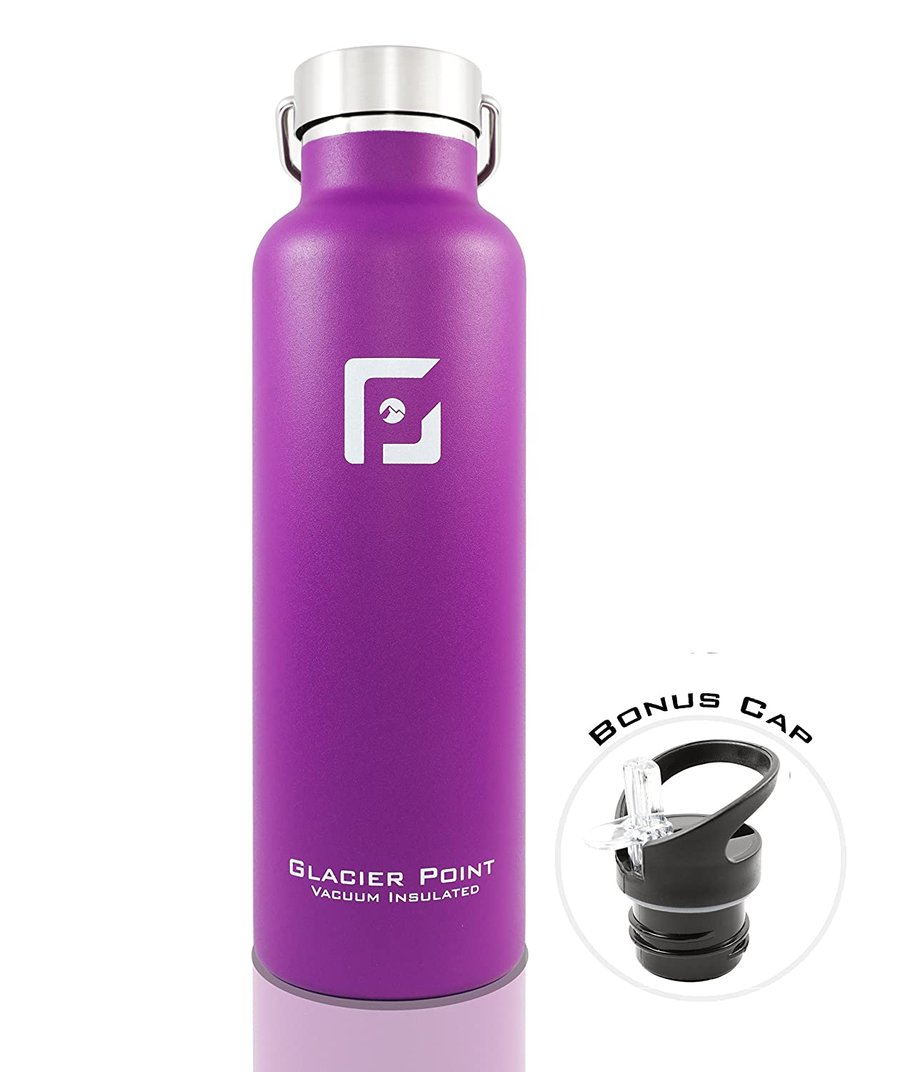 511e6e820c ... Glacier Point Vacuum Insulated Stainless Steel Water Bottle (25oz /  17oz) Double Walled Construction ...