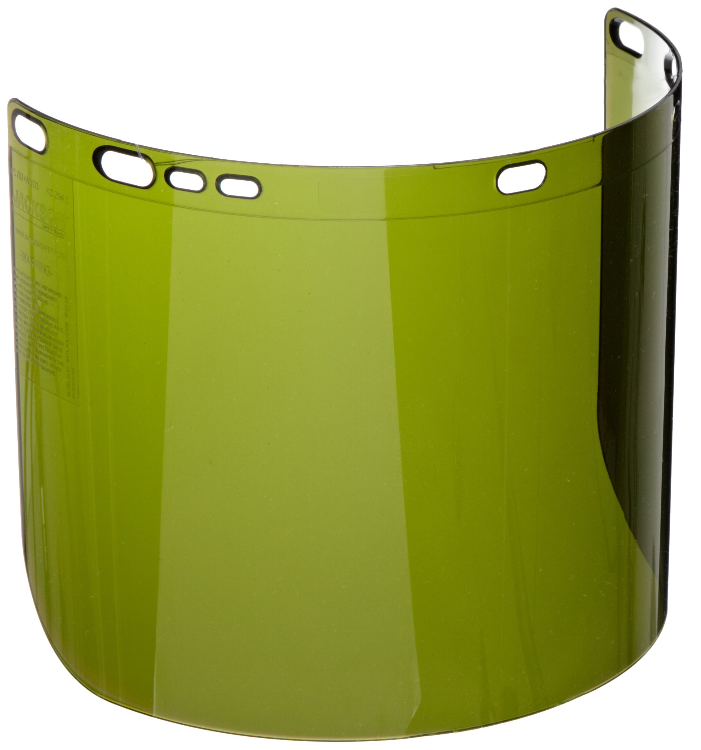 "Jackson Safety F50 Specialty High Impact Face Shield (26262), Polycarbonate, 8"" x 15.5"" x 0.06"", IRUV 3.0, Face Protection, Unbound, 12 Shields / Case by Jackson Safety (Image #1)"