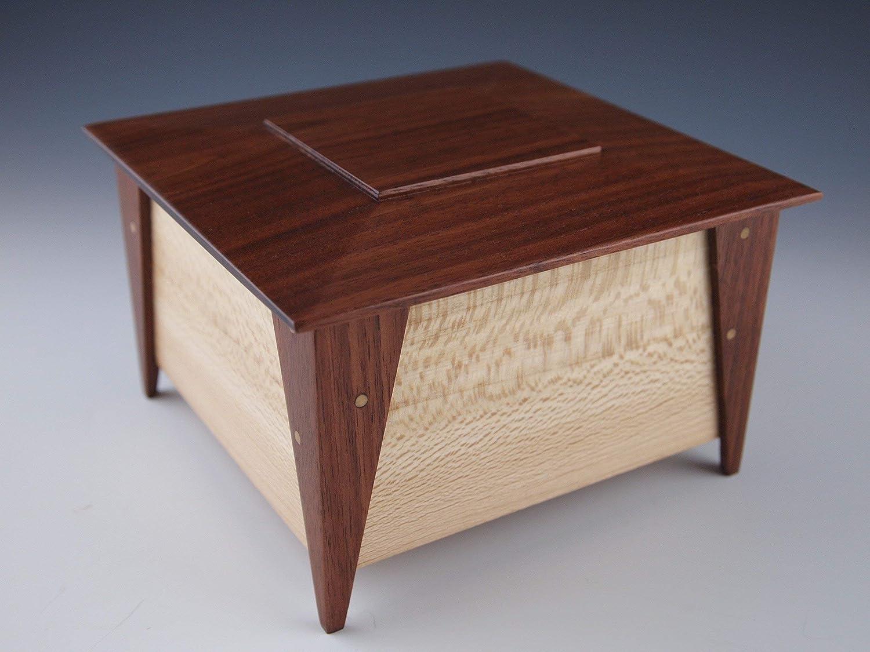 Small Wooden Keepsake Box Jewelry Box Stash Box