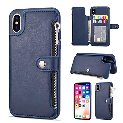 info for e62c8 24831 Amazon.com: Leather Zipper Back Wallet Case for iPhone XR,Yobby ...