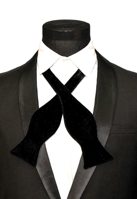 b5b793e45122f Mens FERUCCI Oversized Self tied Black Velvet Bow Tie -Tuxedo Bowtie, Mens  big bow tie (one size) at Amazon Men's Clothing store: