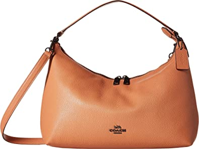 1755f29f40 Amazon.com  COACH Women s Pebbled Leather East West Celeste Convertible Hobo  Dark Blush One Size  Shoes