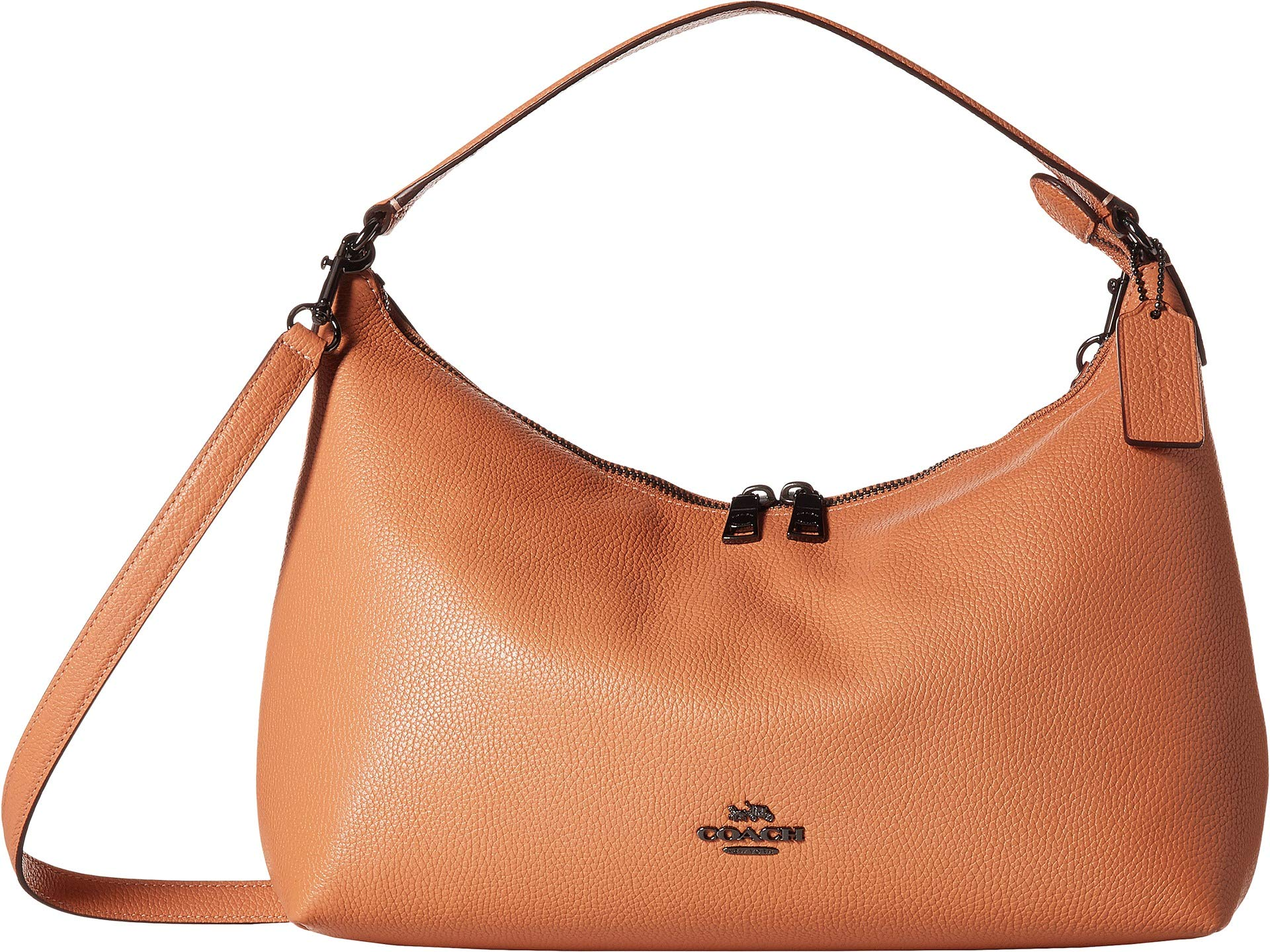 COACH Women's Pebbled Leather East/West Celeste Convertible Hobo Dark Blush One Size