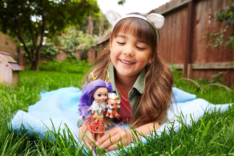 Mattel FNH23 Enchantimals Mu/ñeca con mascota Danessa Deer