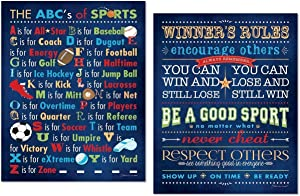 Popular ABC's Of Sports and Winner's Rules Prints; Two 11x14 Poster Prints