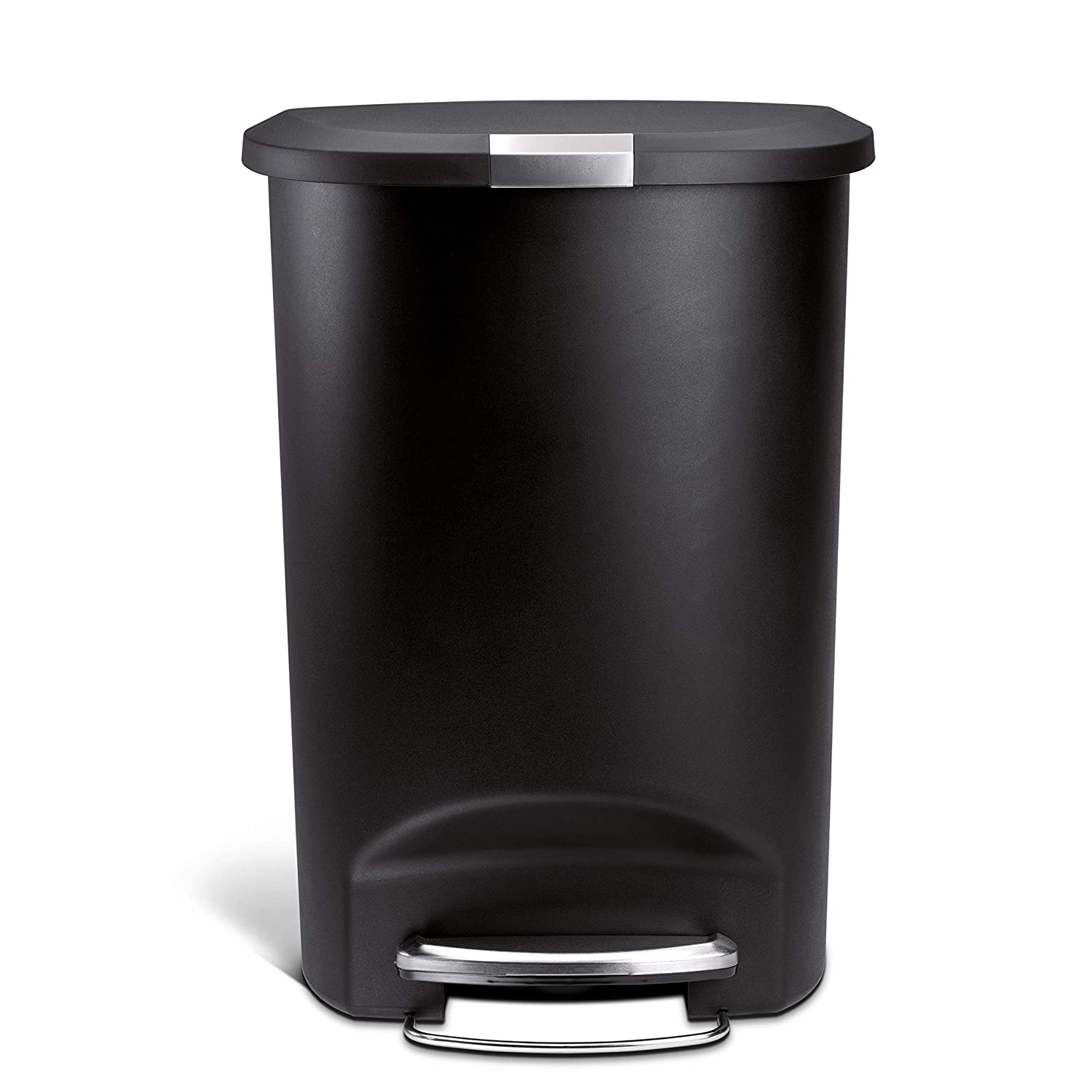 simplehuman Cubo 50 L Negro SEMICIRCULAR