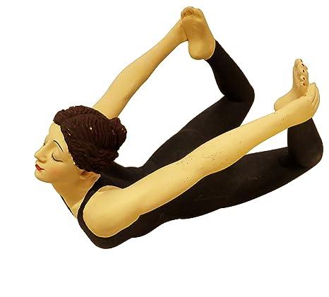 Amazon.com: Luxe pintado a mano Yoga Figura Pose arco ...