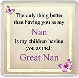 NAN/GREAT NAN Fridge Magnet 'The Only Thing Better' Fun Novelty Gift Keepsake