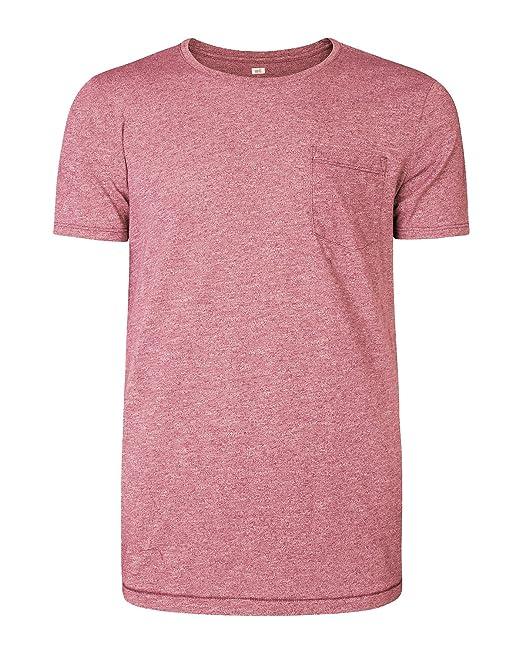 11d0033358efe7 WE Fashion Herren-t-shirt Mit Brusttasche 79548205 Rosa S  Amazon.de   Bekleidung