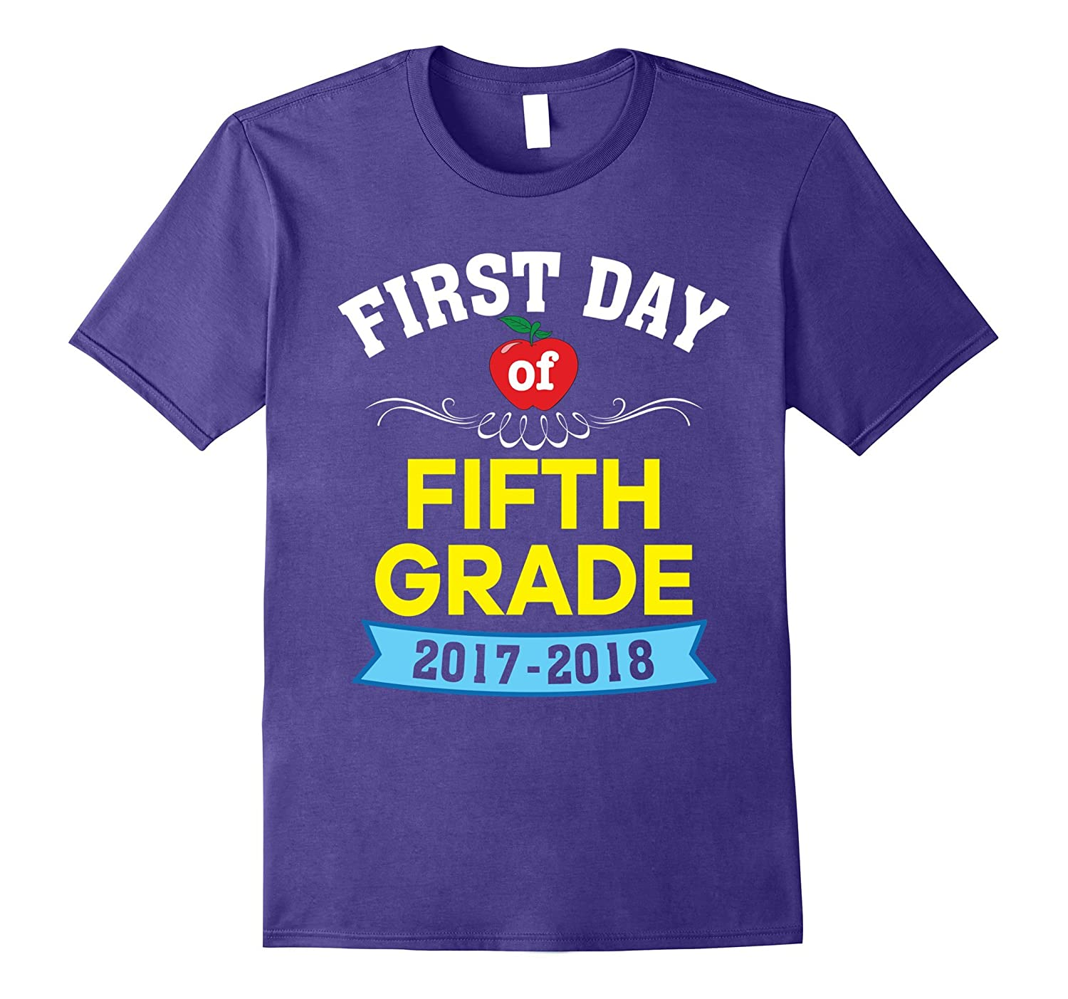 Happy First Day of Fifth Grade T-Shirt 5th for Teachers ...