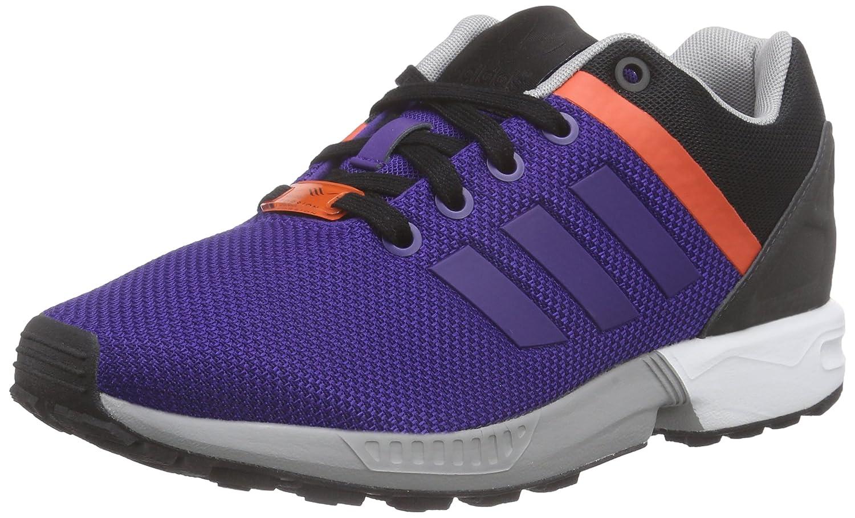 adidas ZX Flux Split Unisex-Erwachsene Laufschuhe  45 1/3 EU|Violett (Collegiate Purple/Collegiate Purple/Bold Orange)