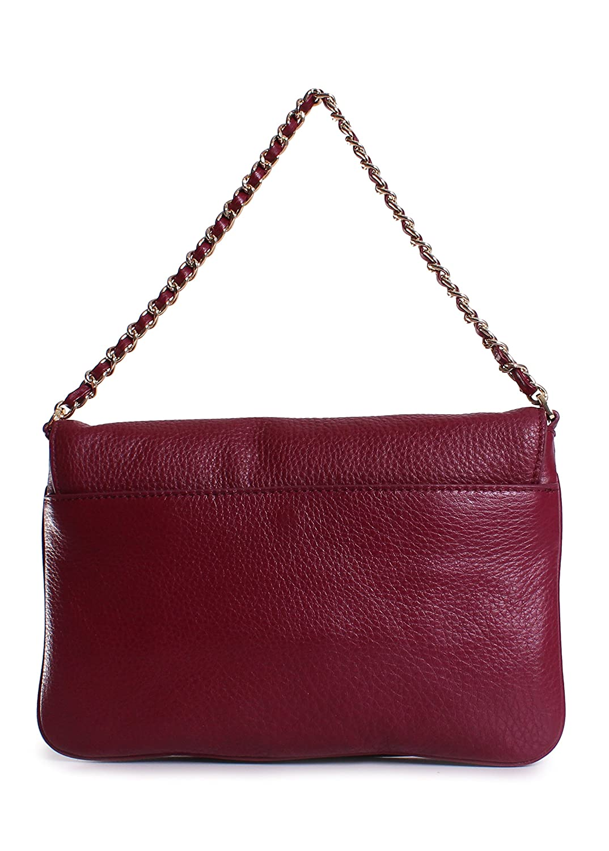 0fb77e09a2a8 Tory Burch Thea Fold-Over Clutch Shoulder Bag Cabernet Leather  Handbags   Amazon.com