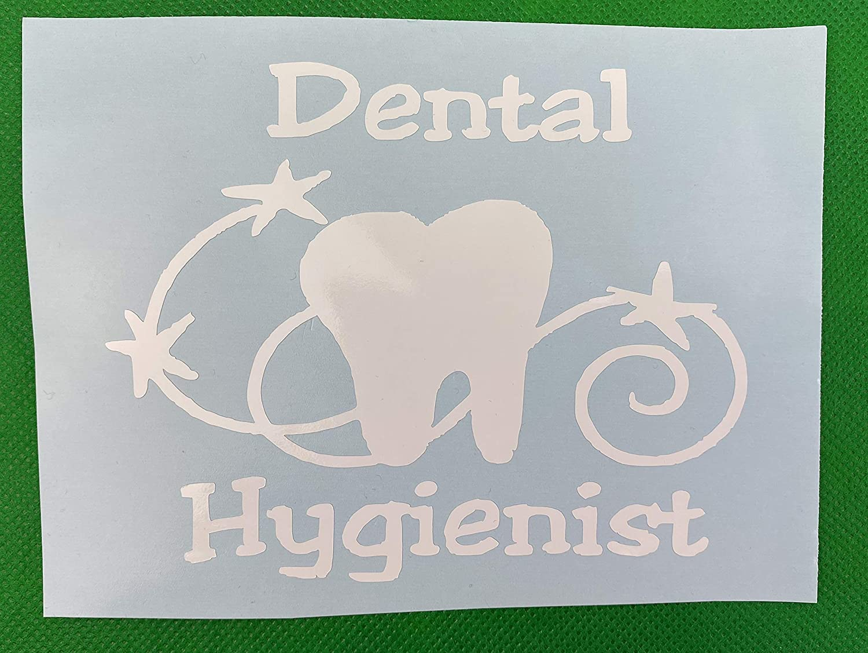 Dental Hygienist Tooth White Vinyl Car Decal New Gift
