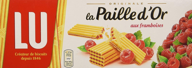 LU - Paja dorada con obleas Lu de frambuesa 170g: Amazon.es: Alimentación y bebidas