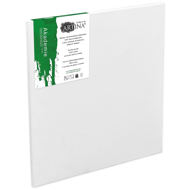 Artina Tela per pittura 80x100cm Akademie - 100% cotone 280 g/m² - telaio in legno - per dipingere e attività artistiche