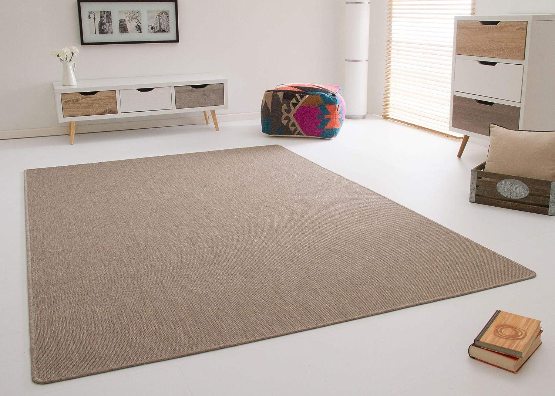 In- und Outdoor Teppich Gotland Exklusiv Beige Grau Webteppich Gut Siegel, Größe  240x340 cm
