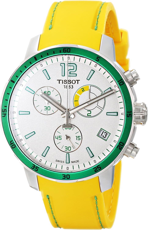 Tissot Men's T0954491703701 Quickster Analog Display Swiss Quartz Yellow Watch