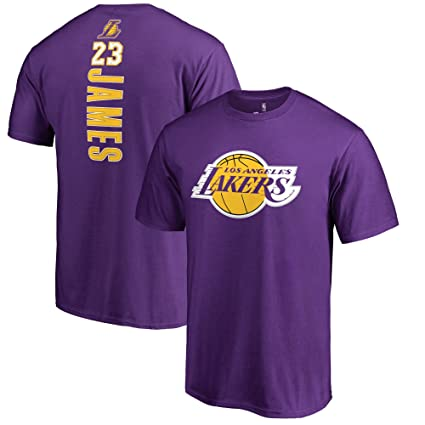 Fanatics Unisex Los Angeles Lakers Lebron James Backer Name   Number T-Shirt  Small Purple c95028642