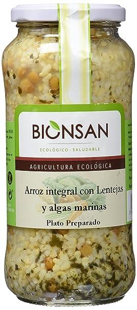 Bionsan Arroz Integral con Lentejas y Algas - 4 Paquetes de 400 gr - Total: