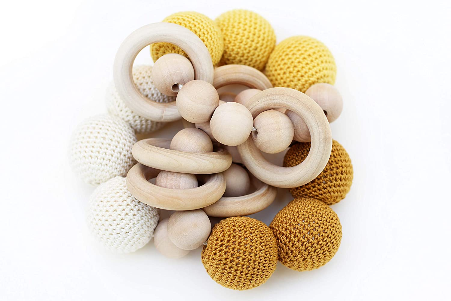 Baby teething toy rattle Infant toys Rattle toy Teething toy rattle For baby Toys for newborns Gender neutral Baby shower gift
